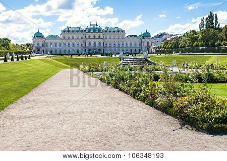 Pathes To Upper Palace In Belvedere Garden, Vienna