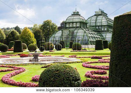 Palmenhaus Pavilion In Schonbrunn Garden, Vienna