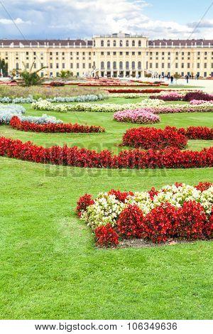 Lawn Of Schloss Schonbrunn Palace, Vienna