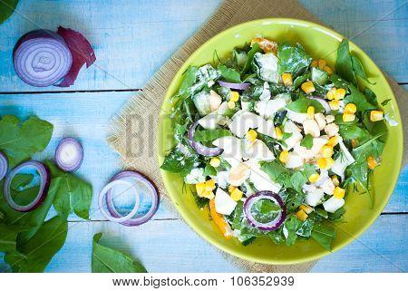 Fresh Green Salad With Sorrel