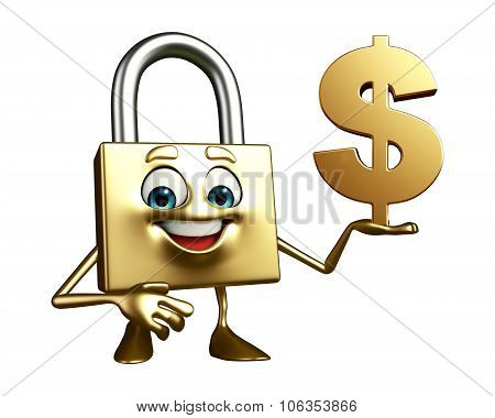 Lock Character With Dollar Sign