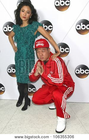 LOS ANGELES - JAN 14:  Constance Wu, Eddie Huang at the ABC TCA Winter 2015 at a The Langham Huntington Hotel on January 14, 2015 in Pasadena, CA