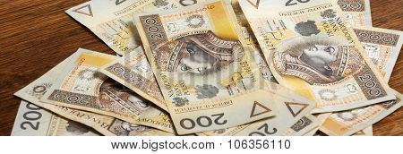 Money - Polish currency 200 PLN