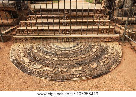 Anuradhapura, Moonstone, Architecture Sculptures