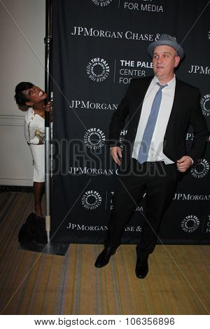 LOS ANGELES - OCT 26:  Tichina Arnold, Mike O'Malley at the Paley Center's Hollywood Tribute to African-Americans in TV at the Beverly Wilshire Hotel on October 26, 2015 in Beverly Hills, CA