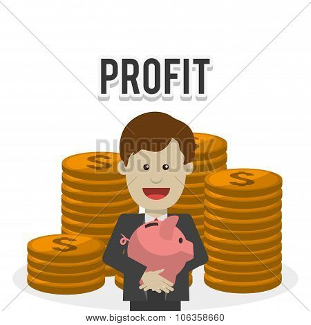Profit icons design