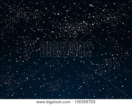 Vector background. Starry night sky. Stars, sky, night.