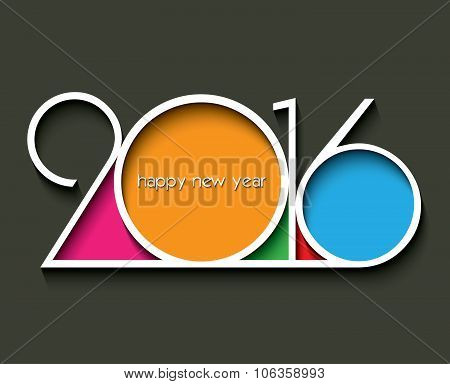 2016 Happy New Year Background For Your Greetings Card