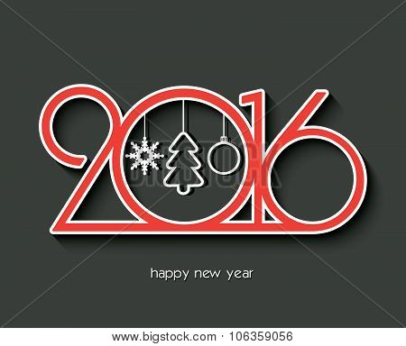 2016 Happy New Year Creative Design For Your Greetings Card, Flyers, Invitation, Posters, Brochure