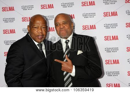 SANTA BARBARA - DEC 6:  John Lewis, Berry Gordy at the