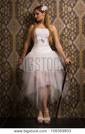 Bride With Stick
