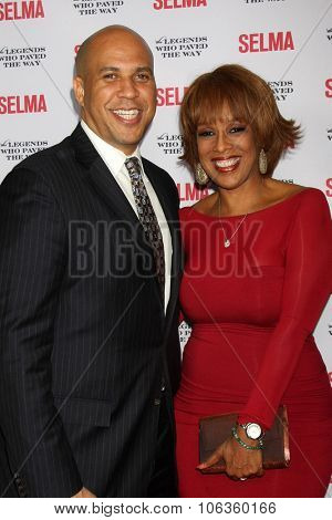 SANTA BARBARA - DEC 6:  Cory Booker, Gayle King at the