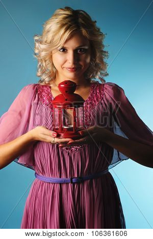 girl and candlestick