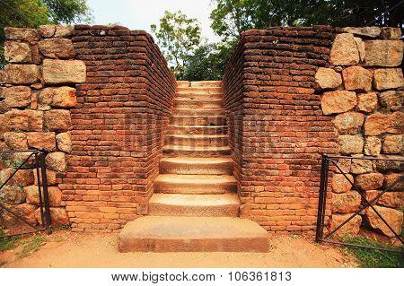 Entrance Stairs To Sigiriya Rock, Sri Lanka