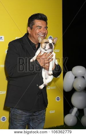 LOS ANGELES - JAN 10:  George Lopez, Stella at the CW Network presents