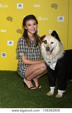 LOS ANGELES - JAN 10:  G Hannelius, Mick at the CW Network presents
