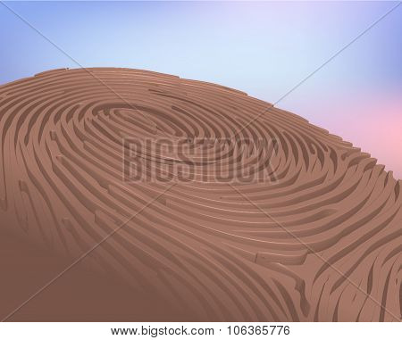 3D Thumbprint vector