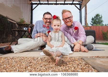 Gay Couple With Little Girl