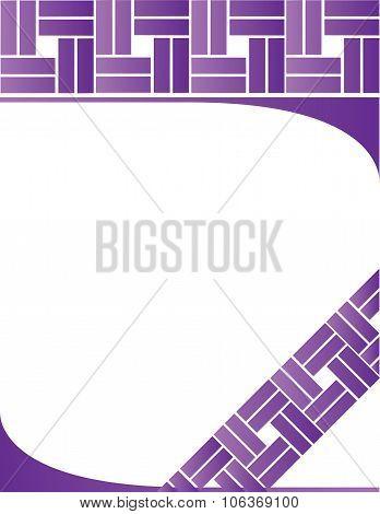 Purple Letterhead Background