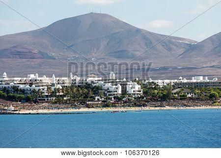 LANZAROTE, SPAIN - SEPTEMBER 9, 2015:  Puerto del Carmen, Canary Island Lanzarote.Spain