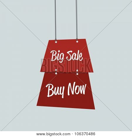 Big Sale Label Flat Design