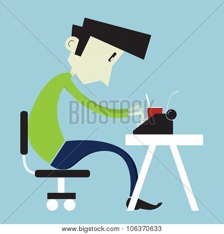 Boy At Home Desk