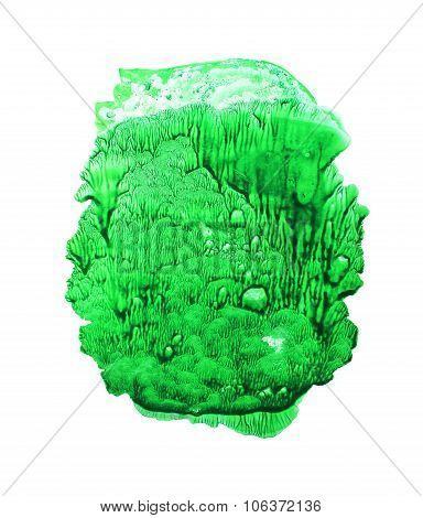 Abstract Green Watercolor Background.