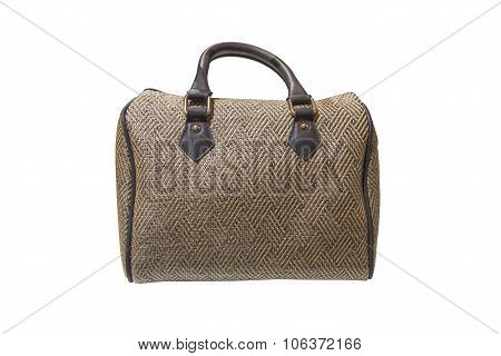 woman's handbag isolated on a white background