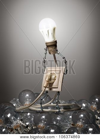 The concept of evolution light bulbs