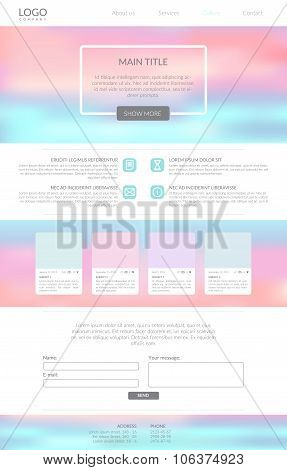 Clean Minimalistic Landing Page.