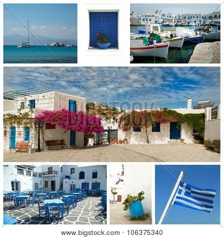 Collage of different images of beautiful Greece