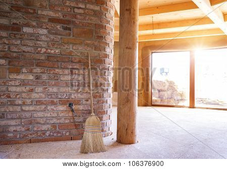 Unfinished eco house