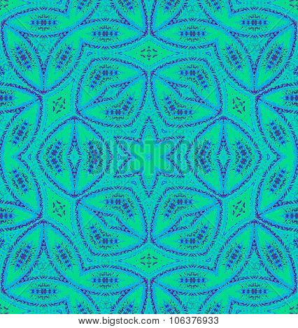 Seamless ornaments turquoise green