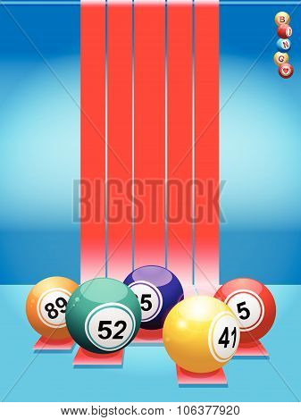 Bingo Balls Over Red Stripes