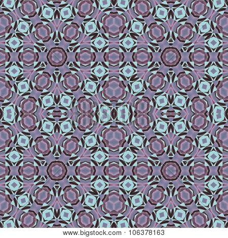 Seamless hexagon pattern turquoise gray