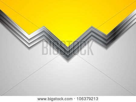 Abstract bright metallic graphic design. Vector background