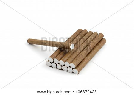 cigarillos stacked pile