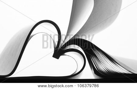 Paper sheets forming abstract curves