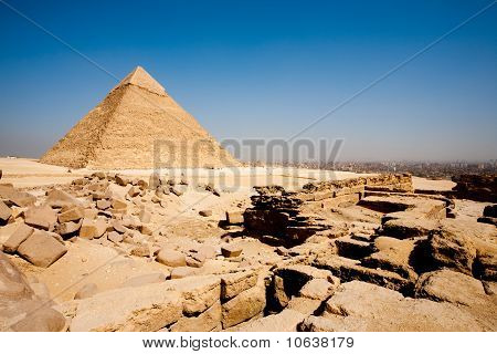 Pyramid Cairo City Edge Funerary Temple