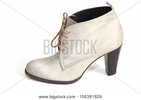 Female Gray Suede Shoe