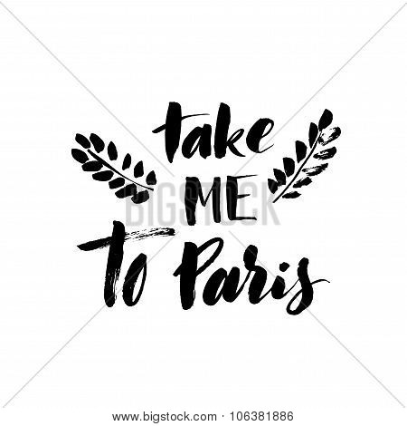 Take Me To Paris Card.