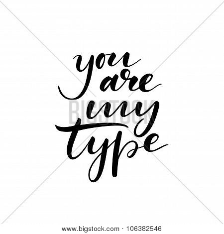 You are my type card.