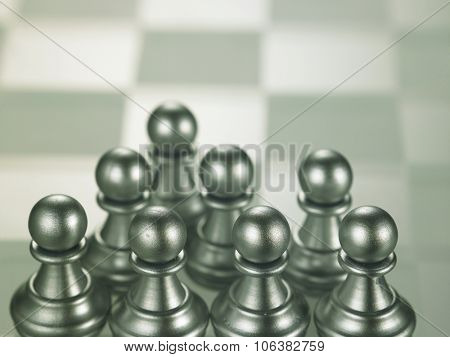 group of the pawn on the chess board