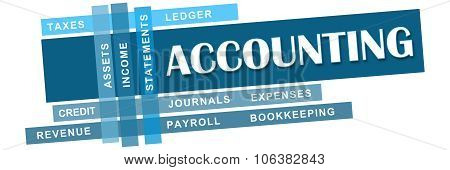 Accounting Blue Stripes Keywords