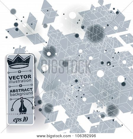 Contemporary tech stylish construction abstract three-dimensional background