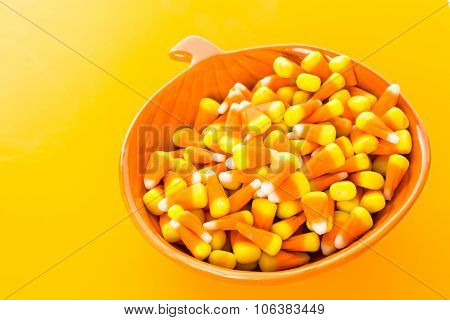 Tasty Candy corn prepared as Halloween treats.