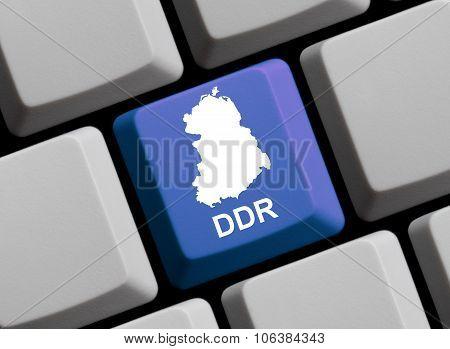 Computer Keyboard - Outline Of Gdr German