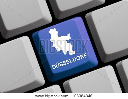 Computer Keyboard - Outline Of German City Duesseldorf