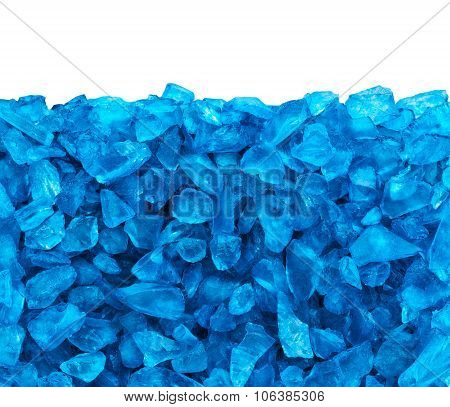 Crystal Blue Ice Background With Copy Space