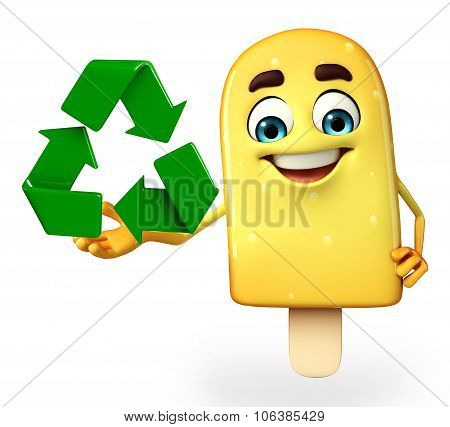 Candy Character With Recycle Icon